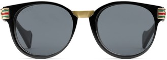 Gucci Round acetate and metal sunglasses