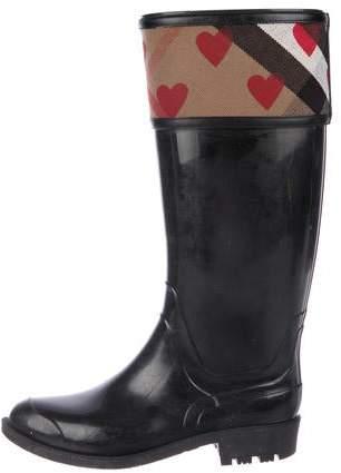 c1039746f2 Black Burberry Rain Boots - ShopStyle