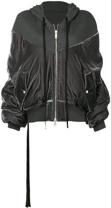 Unravel Project Velvet Bomber Jacket