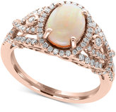 Effy Aurora by Opal (1 ct. t.w.) and Diamond (1/2 ct. t.w.) Ring in 14k Rose Gold