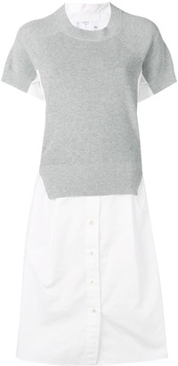 Sacai Knitted Shirt Style Dress