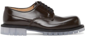 Bottega Veneta Brown Lace-Up Derbys