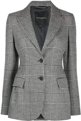 Ermanno Scervino houndstooth check pattern blazer
