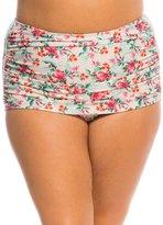 Bettie Page Plus Size Romance Sarong Swim Skirt 8137875