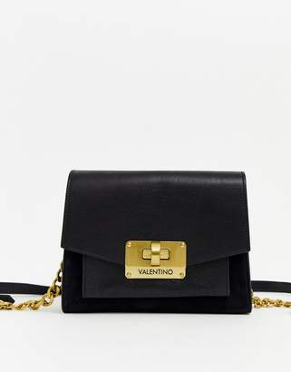 Mario Valentino Valentino By Valentino by Vostok black leather shoulder bag with chain strap
