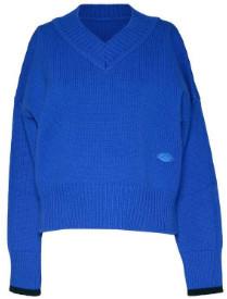 Markus Lupfer Azure Blue Margot Tipping Jumper - S / BLUE - Blue