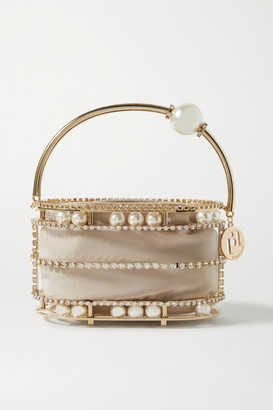 Rosantica Abaco Embellished Gold-tone And Crepe De Chine Tote - one size