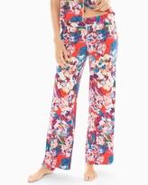 Soma Intimates Pajama Pants Artistic Floral Grenadine