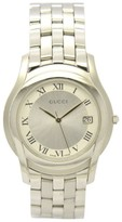 Gucci 5500M Stainless Steel Silver Dial 35mm Mens Watch