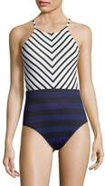 Tommy Bahama High Neck One-Piece Swimsuit