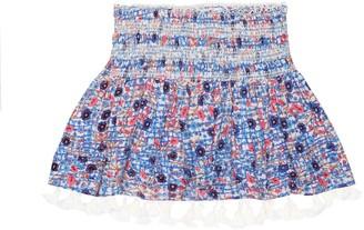 Poupette St Barth Kids Mara smocked skirt