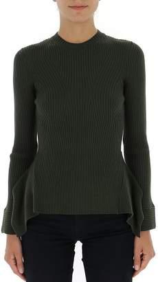 Alberta Ferretti Peplum Ribbed Sweater