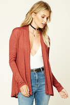 Forever 21 FOREVER 21+ Slub Knit Open-Front Cardigan