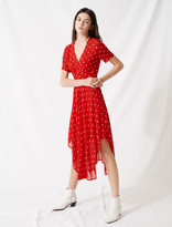 Maje Long embroidered muslin dress
