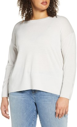Eileen Fisher Merino Wool Box Top Sweater