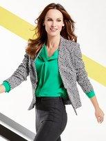 M&Co Geometric jacquard jacket