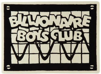 Billionaire Boys Club SSENSE Exclusive Black and Off-White Logo Rug