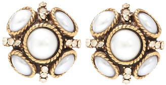 Oscar de la Renta Rope embellished earrings