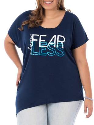 Terra & Sky Women's Plus Size Athleisure Graphic T Shirt