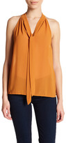 Glamorous Sleeveless Tie Front Blouse (Juniors)