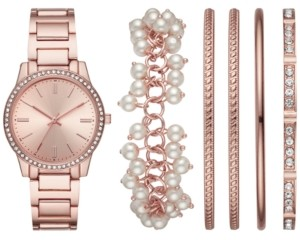 Folio Women's Rose Gold-Tone Bracelet Watch 36mm Box Set