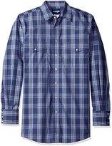 Wrangler Men's Big and Tall Wrinkle Resist Western Two Pocket Long Sleeve Shirt