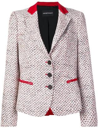 Emporio Armani patterned blazer jacket