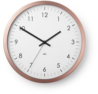 """Umbra Wall Clock - 12"""" Metal Frame - Battery Operated - Clock for Kitchen, Nursery, Office, School, Hospital - Silent Second-Hand"""
