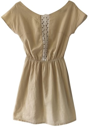 Non Signã© / Unsigned Hippie Chic Beige Cotton Dresses