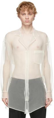 Sulvam White Organza Over Shirt