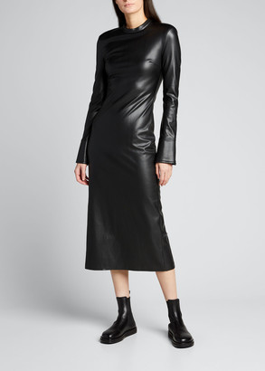 Stand Juno Long Faux-Leather Dress