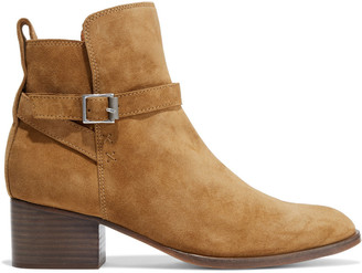 Rag & Bone Walker Buckled Suede Ankle Boots