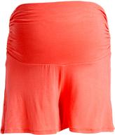 Glam Hello Miz Coral Maternity Shorts