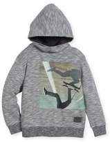 Molo Maximo Hooded Skater Sweatshirt, Gray, Size 4-12