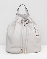 Glamorous Drawstring Duffle Backpack in Beige