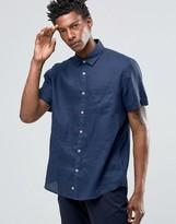 Celio Slim Fit Short Sleeve Linen Shirt
