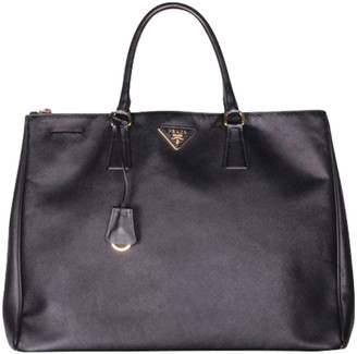 Prada Black Saffiano Lux Leather Tote Bag