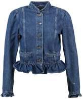 Gap RUFFLE MED LADY STONE Denim jacket medium indigo