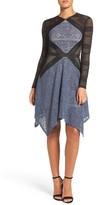 BCBGMAXAZRIA Women's Lace Fit & Flare Dress