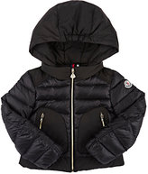 Moncler Down-Quilted Merveille Hooded Coat-BLACK