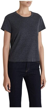 AG Jeans Del Rey Tee (Heather Charcoal) Women's Clothing