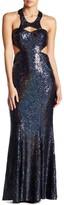 Minuet Long Sequin Body Con Dress