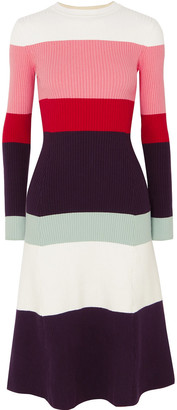 JoosTricot Color-block Ribbed Cotton-blend Dress