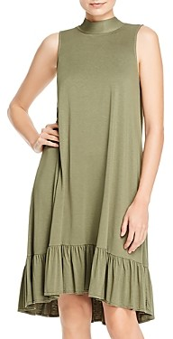 Dolan Mock Neck Ruffled Dress