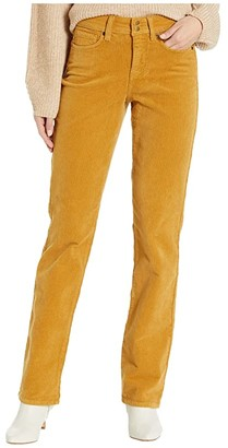 NYDJ Marilyn Straight Double Snap Waistband Corduroy (Vanilla) Women's Jeans