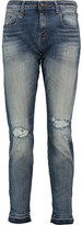 R 13 Boy High-Rise Distressed Skinny Jeans