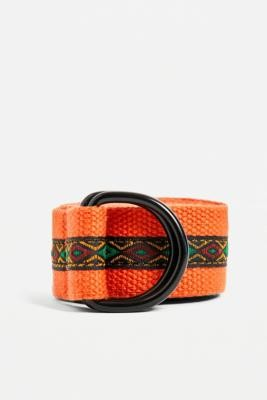 Urban Outfitters Orange Tapestry Belt - Orange ALL at