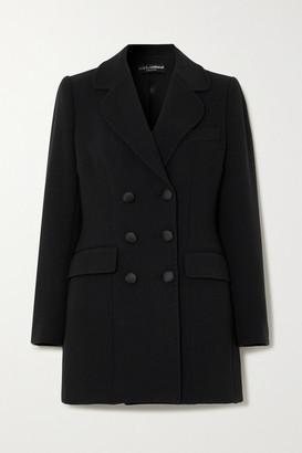 Dolce & Gabbana Double-breasted Cady Mini Dress - Black