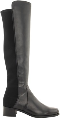 Stuart Weitzman Reserve Boot Leather With Stretch Elastic Back