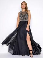 Mac Duggal Fabulouss - 65986F Beaded Chiffon A-line Dress